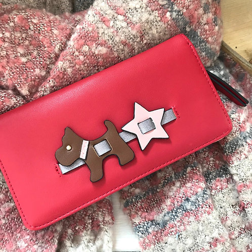 Scottie Dog Red Purse Ladies Wallet Coin Purse Gift For Her Accessories Front View