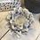 White Flower Ceramic T-light Holder