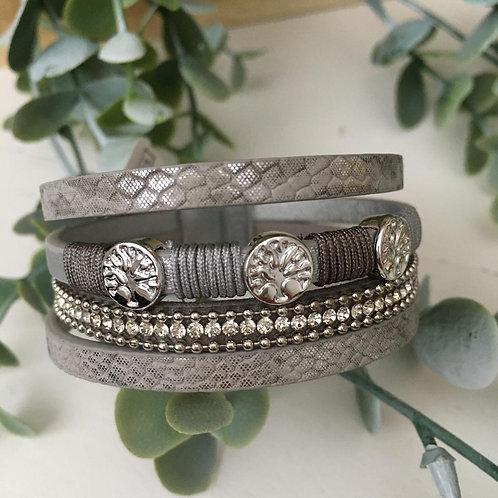 Platinum Tree Wrap Bracelet