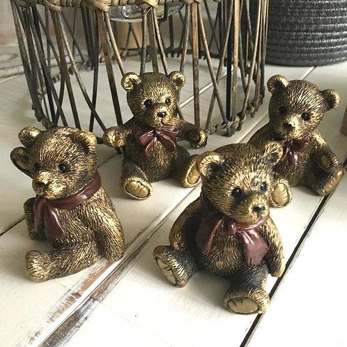 Set of 4 Teddy Bears