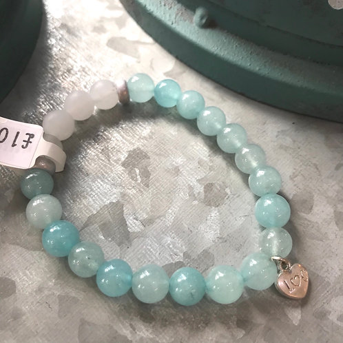 Aqua Semi-Precious Stone Bracelet