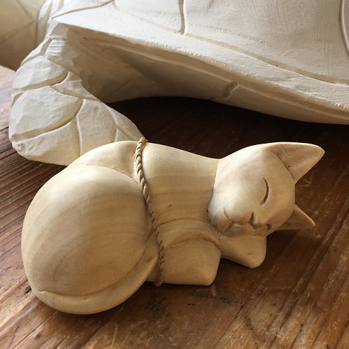 Hester the Hand Carved Satin Wood Cat Gift Shop Hinckley Cute