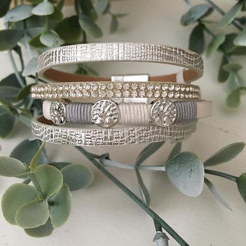 Silver Tree Wrap Bracelet