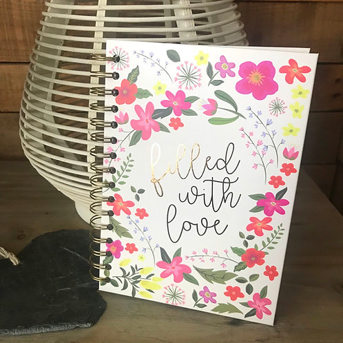 Filled With Love Notebook