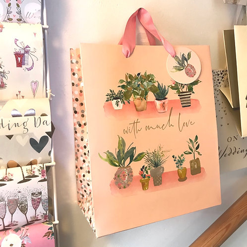 With Much Love Plant Gift Bag