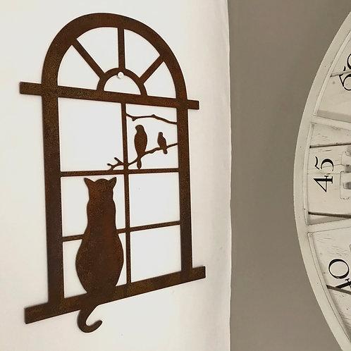 Bella the Gazing Cat in Window