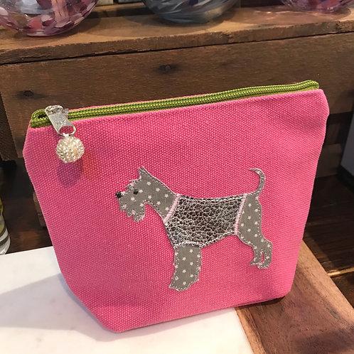 Pink Dog Cosmetic Bag