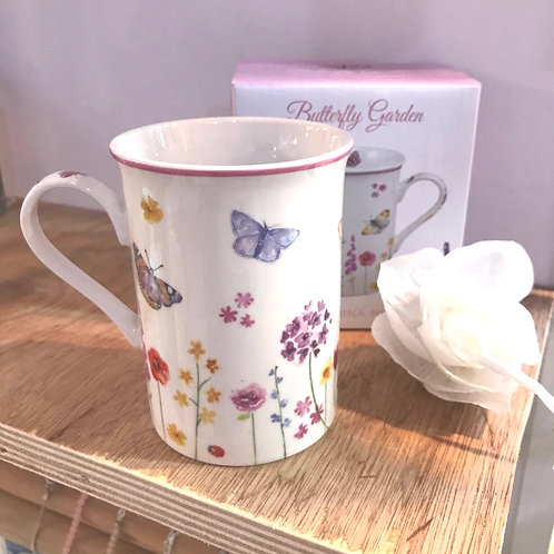 Fine China Butterfly Mug