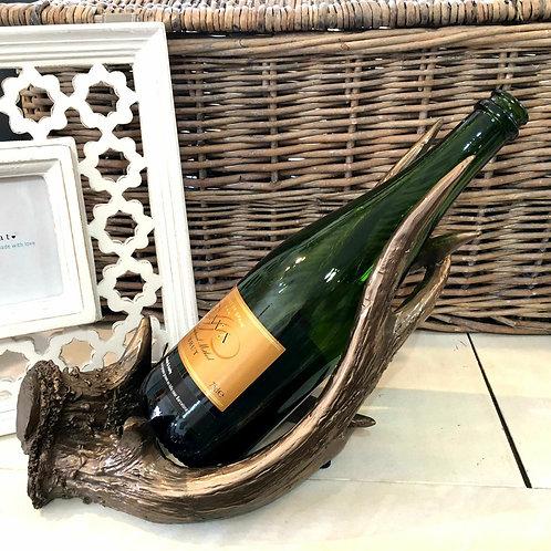 Polyresin Bronze Antler Bottle Holder Wine Home Decor Interior Design