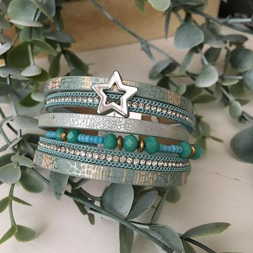Aqua Star Wrap Bracelet