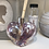 Pink Glass Heart Fragrance Diffuser Close-Up