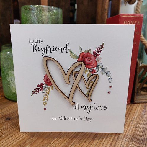 Valentine's Day Greeting Card Tracey Russell Boyfriend