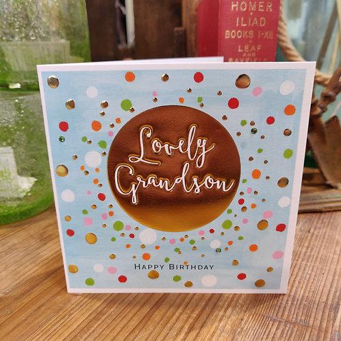 Janie Wilson Greeting Card Birthday Grandson