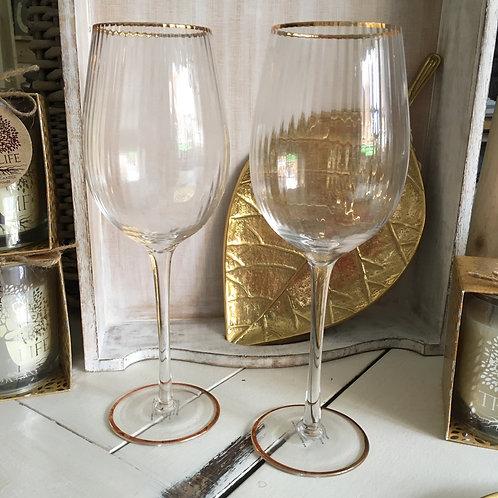 Vintage Style Wine Glasses