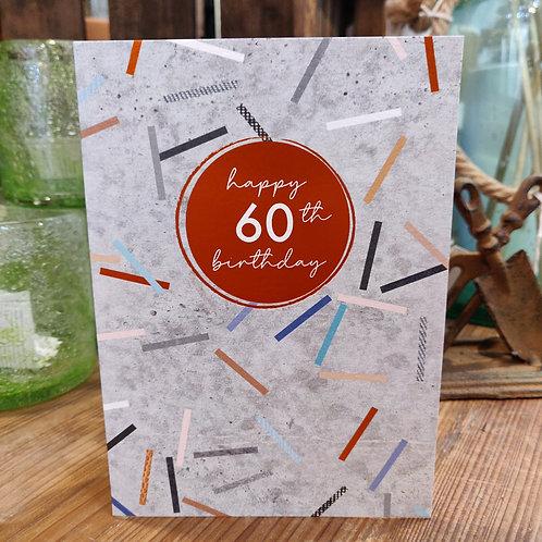 Cinnamon Aitch Greeting Card Birthday Age 60