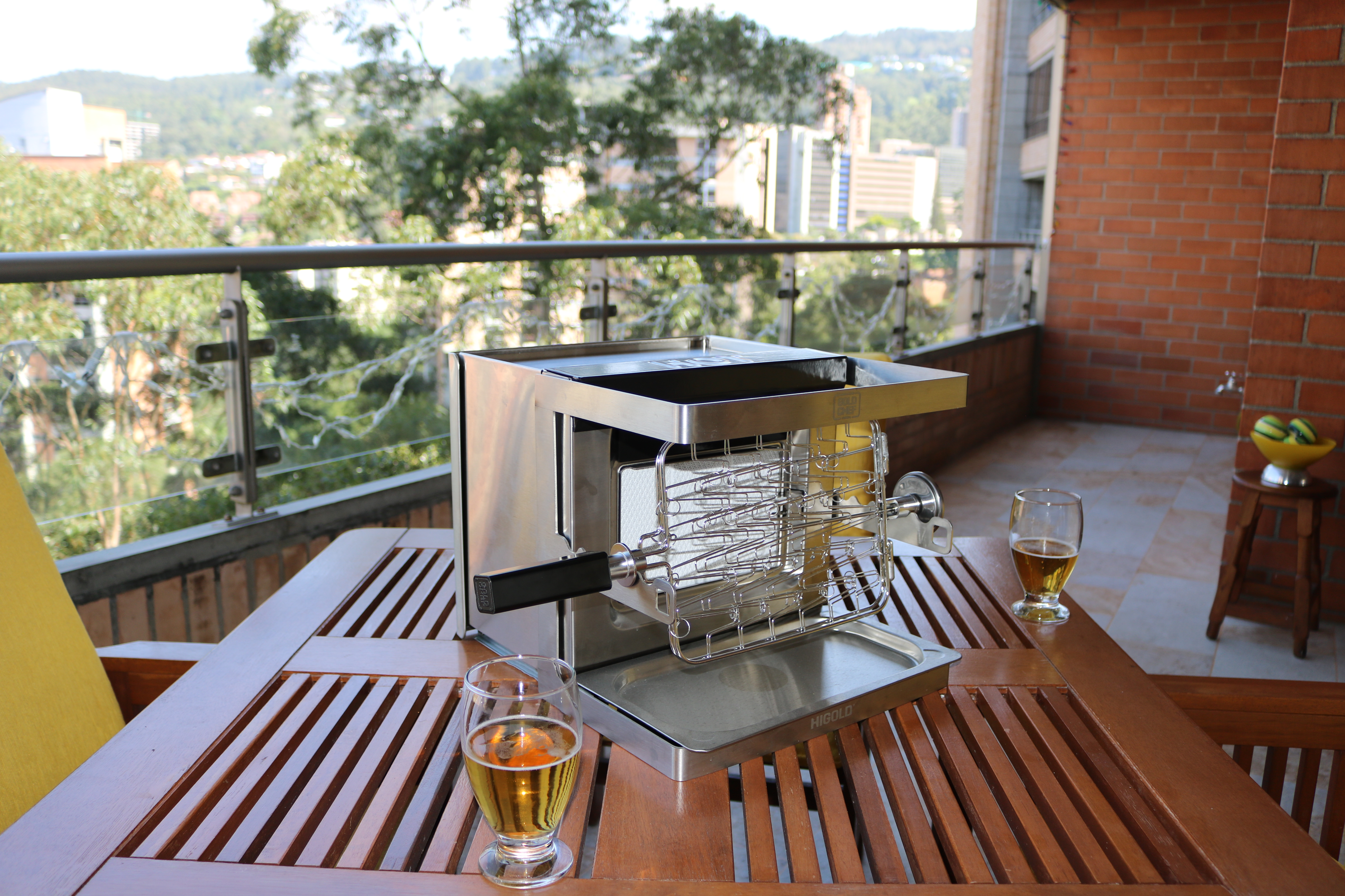 GOLD CHEF GRILL IN BALCONY
