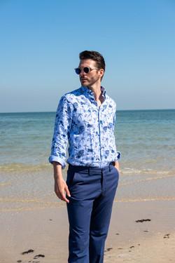 Linen floral print shirt by Paul & Shark