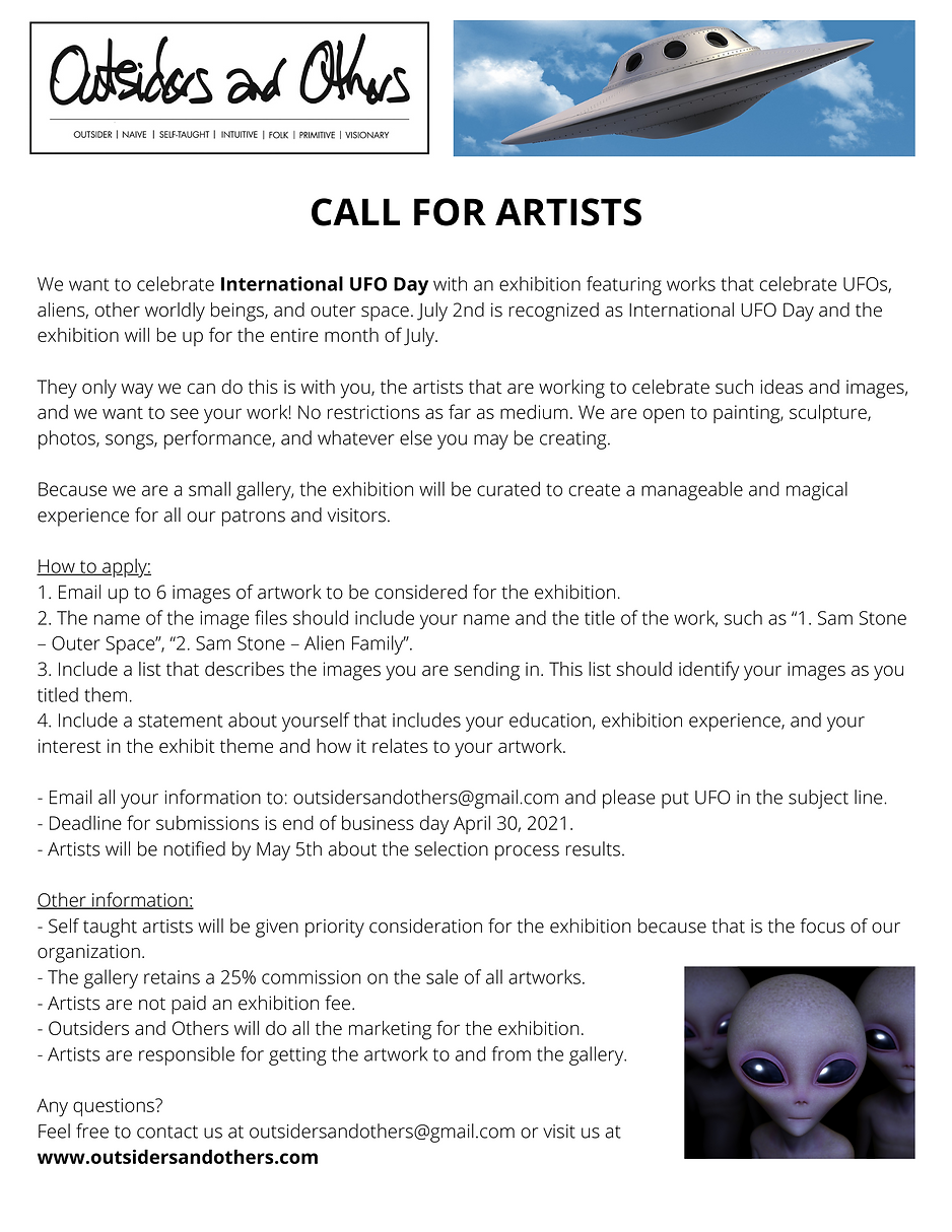 CALL FOR ARTISTS We want to celebrate In