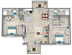 2 Bed 2 Bath Villa - 818 sq ft.png