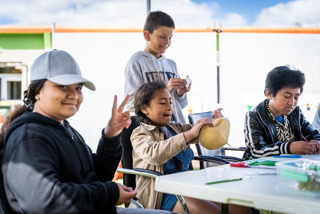 Kids art workshop outside the Glen Innes Library.