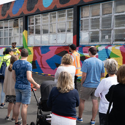 Accessible street art tours for all ages.