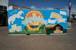 Youth mural painted by Glen Innes Family Centre's Mana Rangatahi programme.