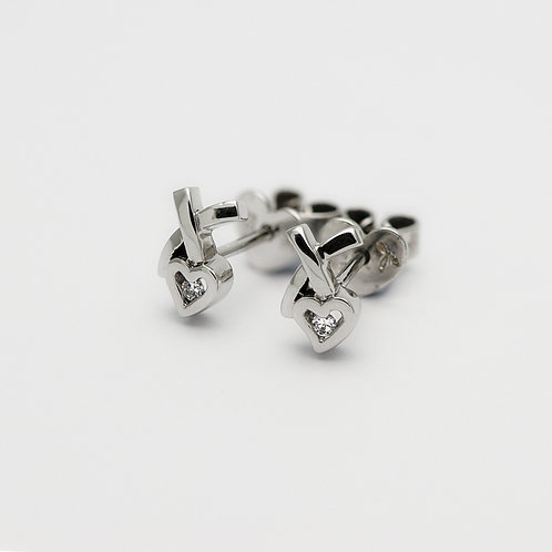 18K Diamond Earring