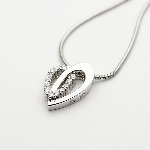 Cubic Zirconia Silver Pendant