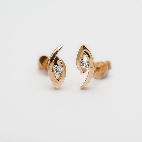 14K Cubic Zirconia Earrings