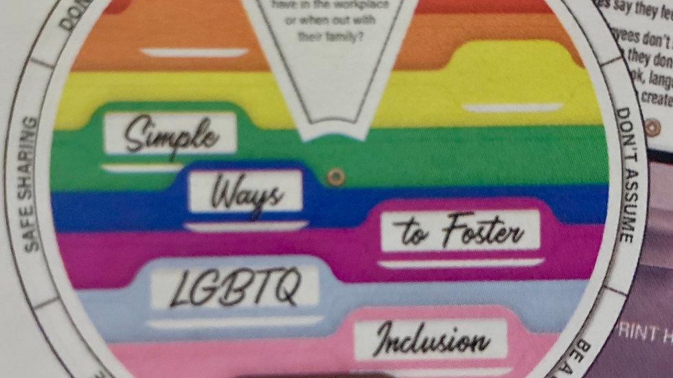 LGBTQ Workplace Inclusion Education Wheel
