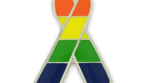 LGBTQIA2+Ribbon Lapel Pin