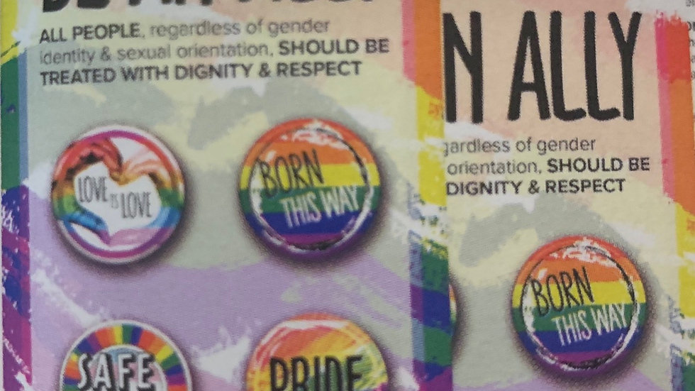 Be An Ally Button Pack