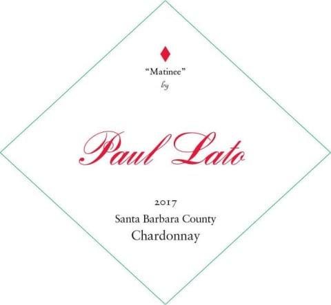 """Paul Lato """"Matinee"""" Chardonnay, Santa Barbara County 2017"""