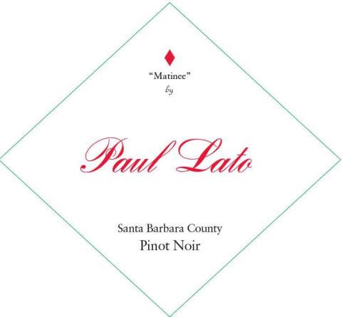"Paul Lato ""Matinee"" Pinot Noir, Santa Barbara County 2018"