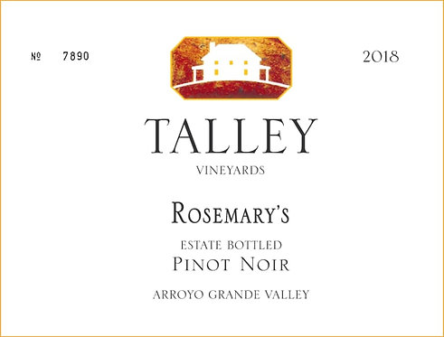 "Talley Pinot Noir, Rosemary""s Arroyo Grande Valley 2018"