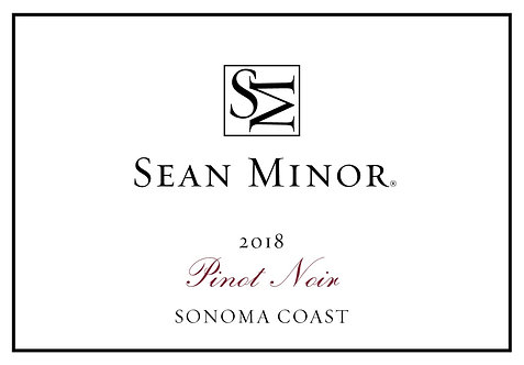 Sean Minor Pinot Noir, Sonoma Coast 2018