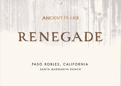 Ancient Peaks Renegade Red Wine, Santa Margarita Ranch Paso Robles 2017