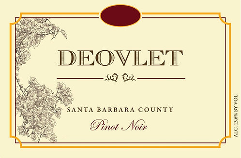 Deovlet Pinot Noir, Santa Barbara County 2018
