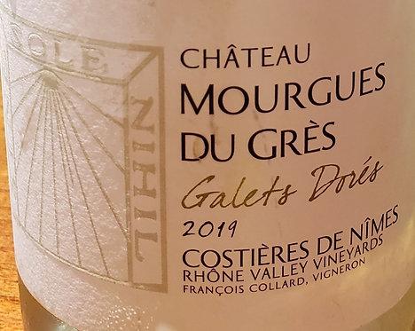"""Chateau Mourgues Du Gres """"Galets Dorés"""" Costieres de Nimes 2019"""