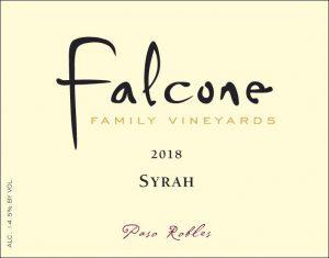 Falcone Syrah, Paso Robles 2018