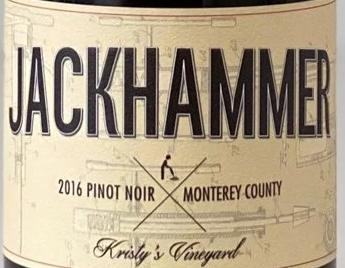 Jackhammer Pinot Noir, Monterey County 2017
