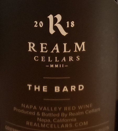 """Realm """"The Bard"""" Red Wine, Napa Valley 2018"""