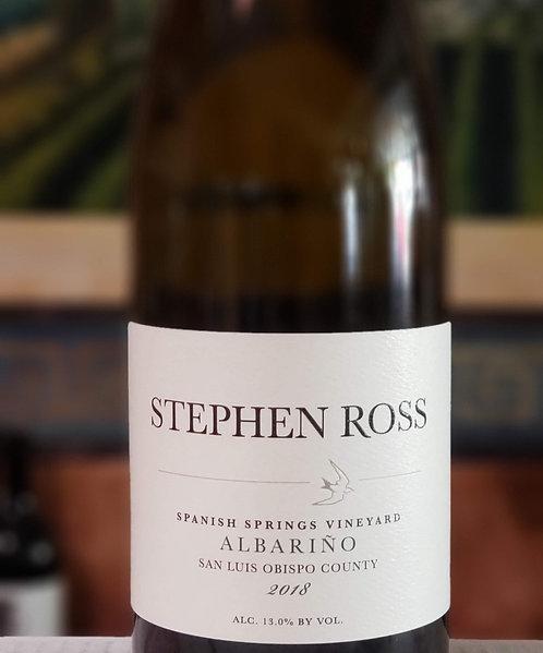 Stephen Ross Albarino, Spanish Springs Vineyard San Luis Obispo County 2018