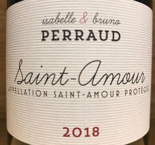 Isabelle & Bruno Perraud Saint-Amour 2018