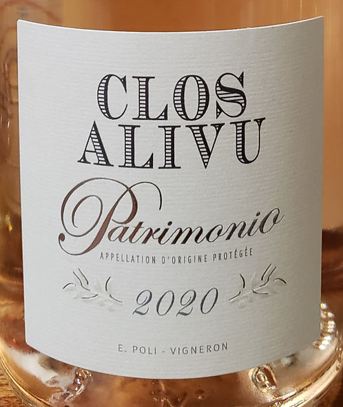 Clos Alivu Rosé, Patrimomio 2020