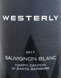 Westerly Sauvignon Blanc, Happy Canyon of Santa Barbara 2017