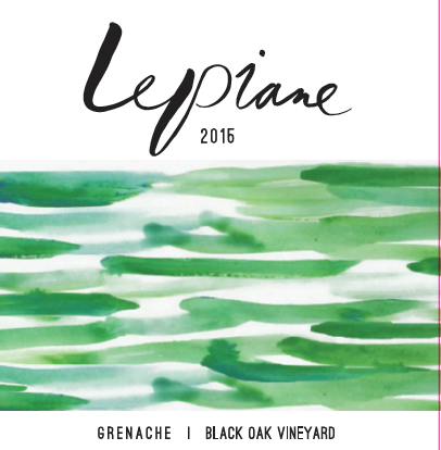 LA Lepiane Grenache, Black Oak Vineyard Santa Barbara County 2015