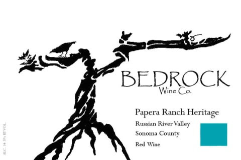 Bedrock Papera Ranch Heritage, Russian River Valley 2017