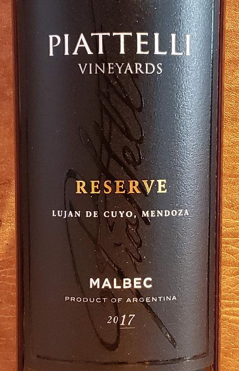 Piattelli Reserve Malbec, Lujan De Cuyo 2017