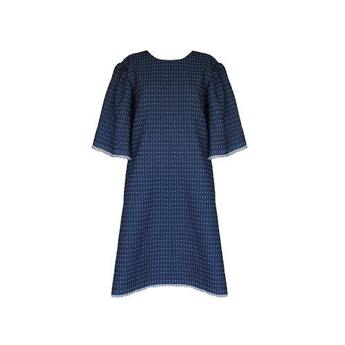 A- Line Denim with Modern Butterfly Sleeve Dress